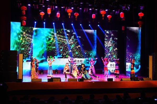 福娃闹新春   器乐合奏《映山红随想》通过不同乐器集体合奏,给观众
